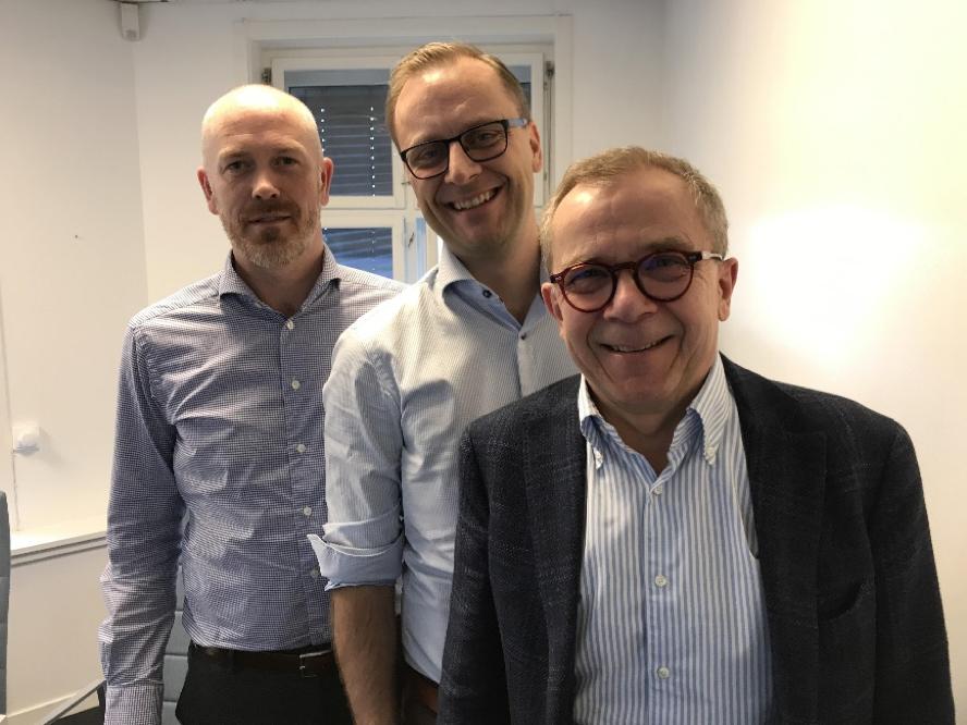 Henning Backe, Steffen Larvoll og Arne Andersen fra første juryemøte.